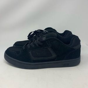 VANS DOCKET BLACK/CHARCOAL SKATE SHOES MENS 11.5